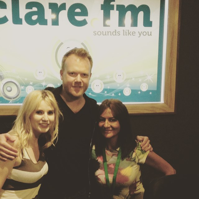 Lovely to see the gorgeous Lynsey Dolan and all our friends at Clare FM this afternoon. On to Kilkee now for tonight's gig. Whoohoo