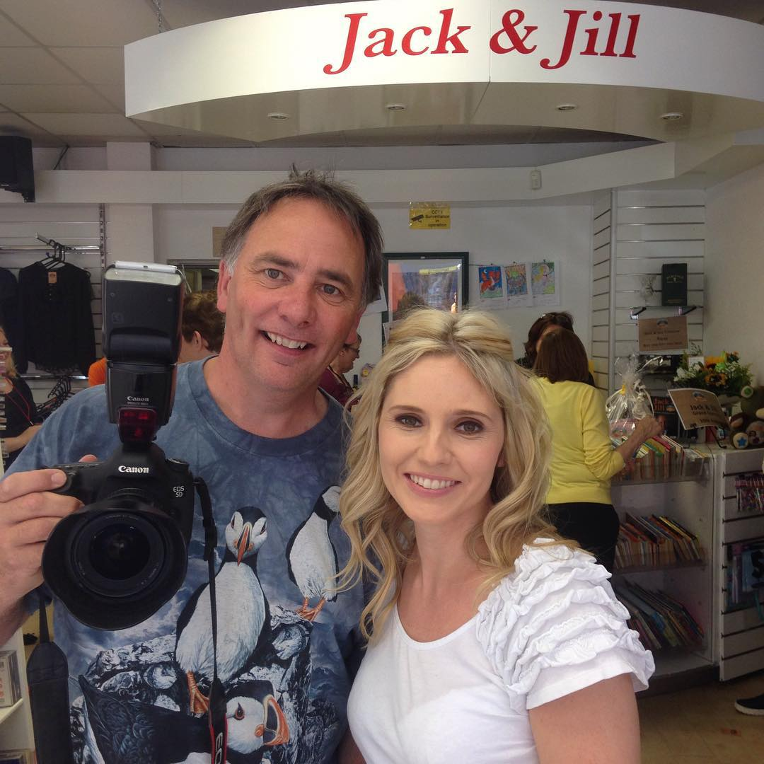 Great to finally get this man on the other side of the camera :) #photographer #jack&jills #opening #charity