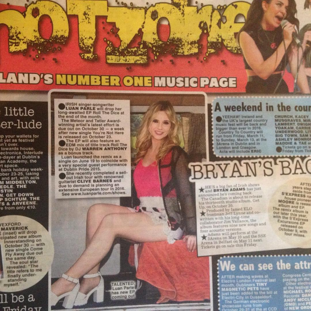 Today's Irish Daily Star :) delighted!!!! #irish #daily #star #new #single #delighted