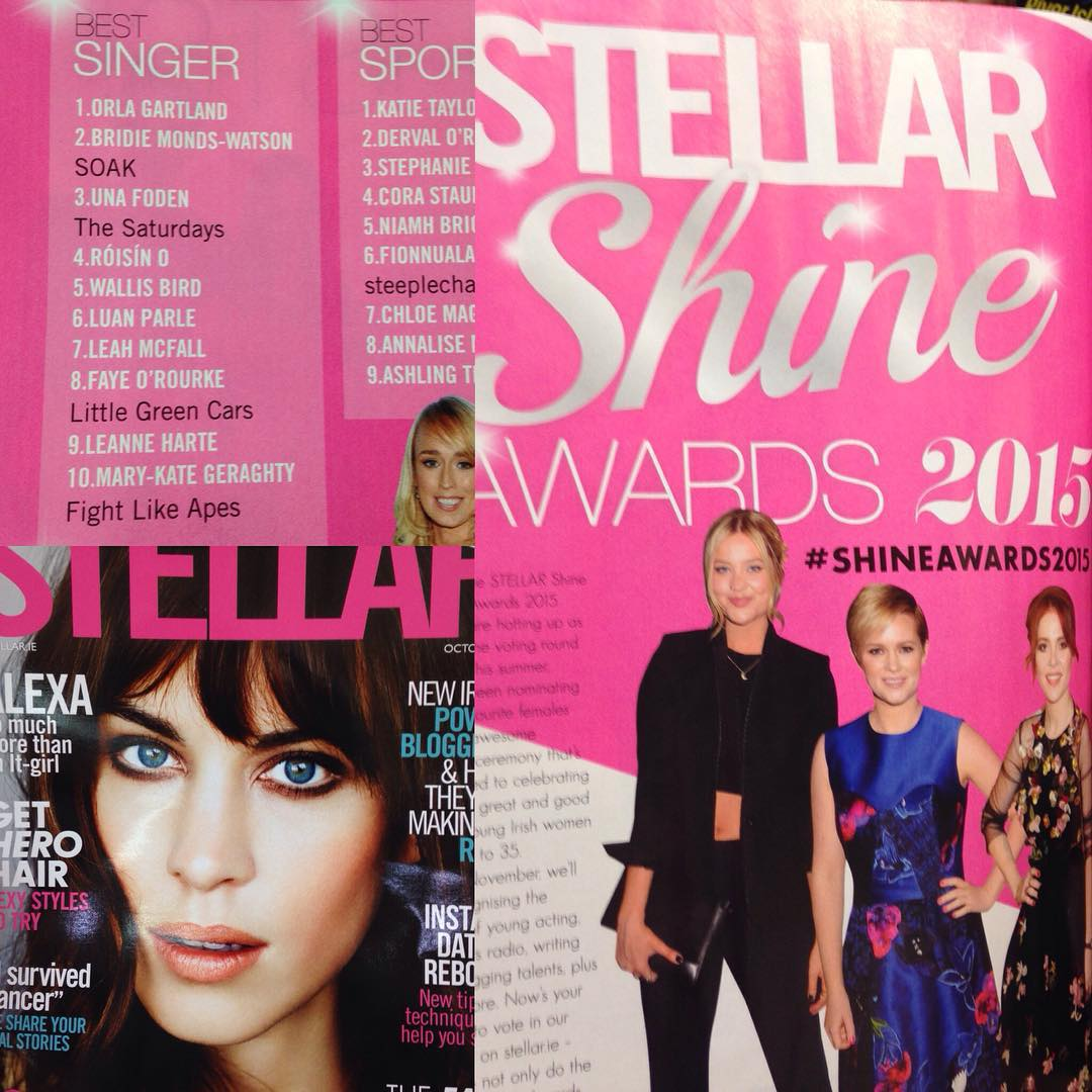 Ahhhhh amazing feeling seeing my name in Stellar Magazine for the #shine #awards don't forget you can still vote :) @stellarmagazine