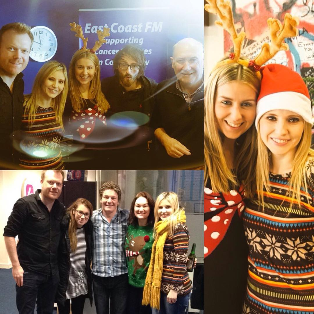 Had the most fabulous Christmas Eve today with some of my favourite people. We performed Christmas tunes on East Coast FM with the oh so lovely Declan Meehan & then onto 4FM's Niall Boylan to join these legends!!! Happy Christmas folks, have a fab one xx
