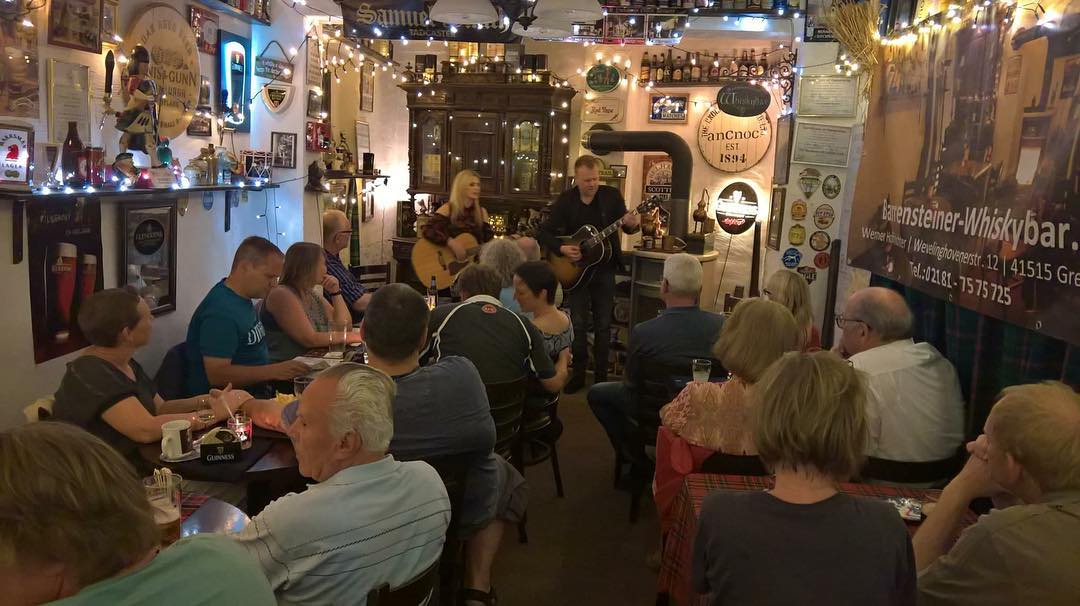 Sold out show and a standing ovation for the first night of our German Tour at Barrensteiner Whiskey Bar Grevenbroich