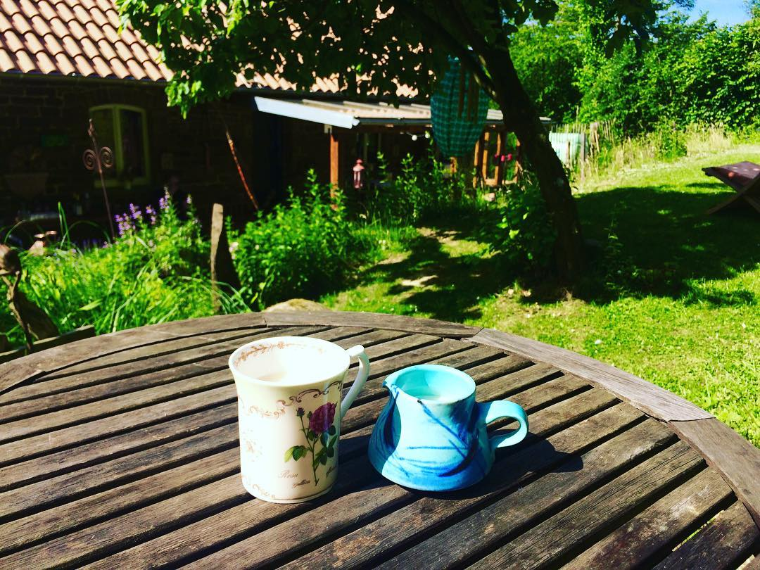 What a setting for a morning cuppa