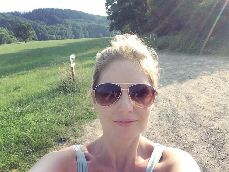 Exploring the German countryside in 36 degree heat  hellip