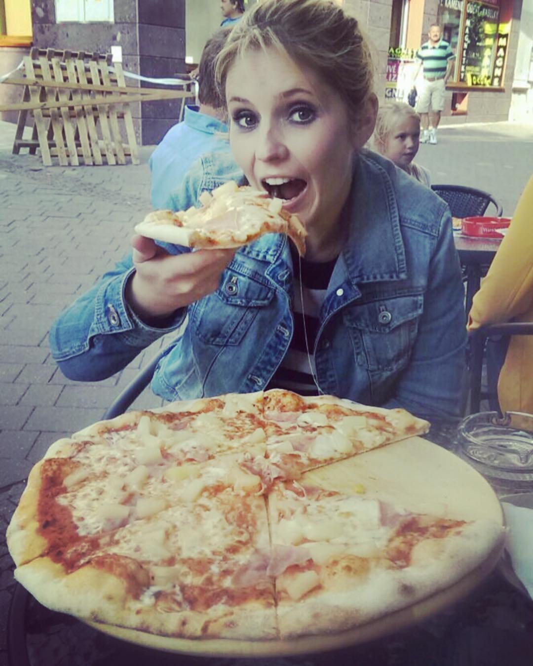 Celebrating tonight with a giant pizza