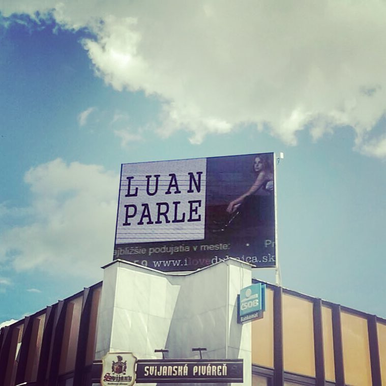 So exciting to see my name of the Slovakian billboards ..