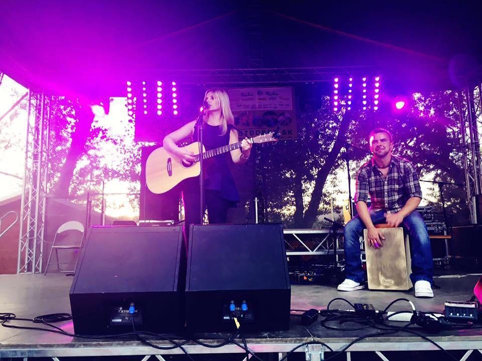 On stage at FestDobréRybníky Slovakia
