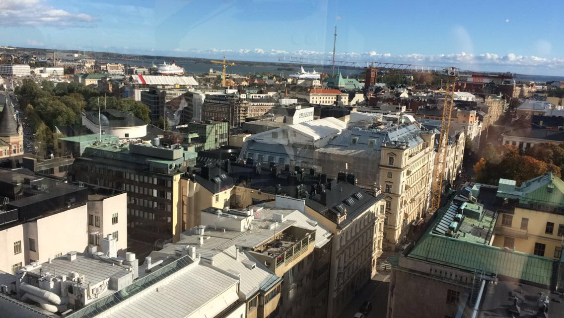 View from the rooftop bar Torni Hotel Helsinki