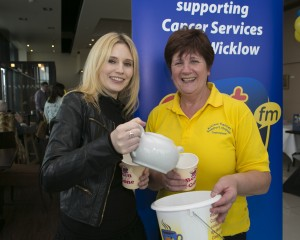 Luan Parle and Mary O'Brien at the East Coast FM Coffe Morning in the Riverside Cafe, Arklow (Pic.Michael Kelly)