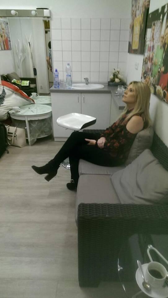 Backstage at TV Studio
