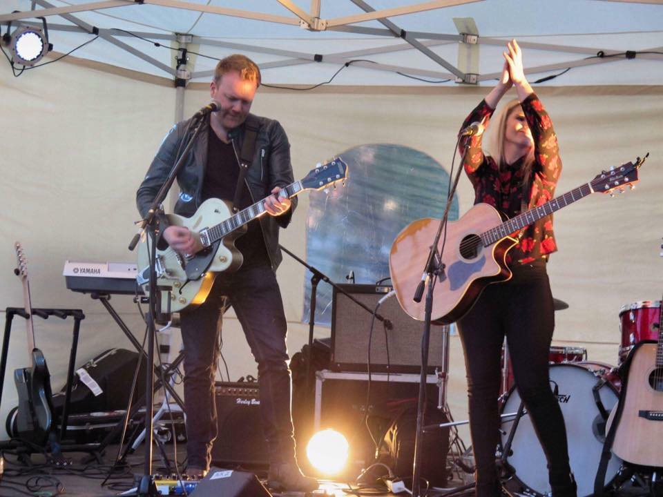 On stage at the Heinola Folk & Country Festival