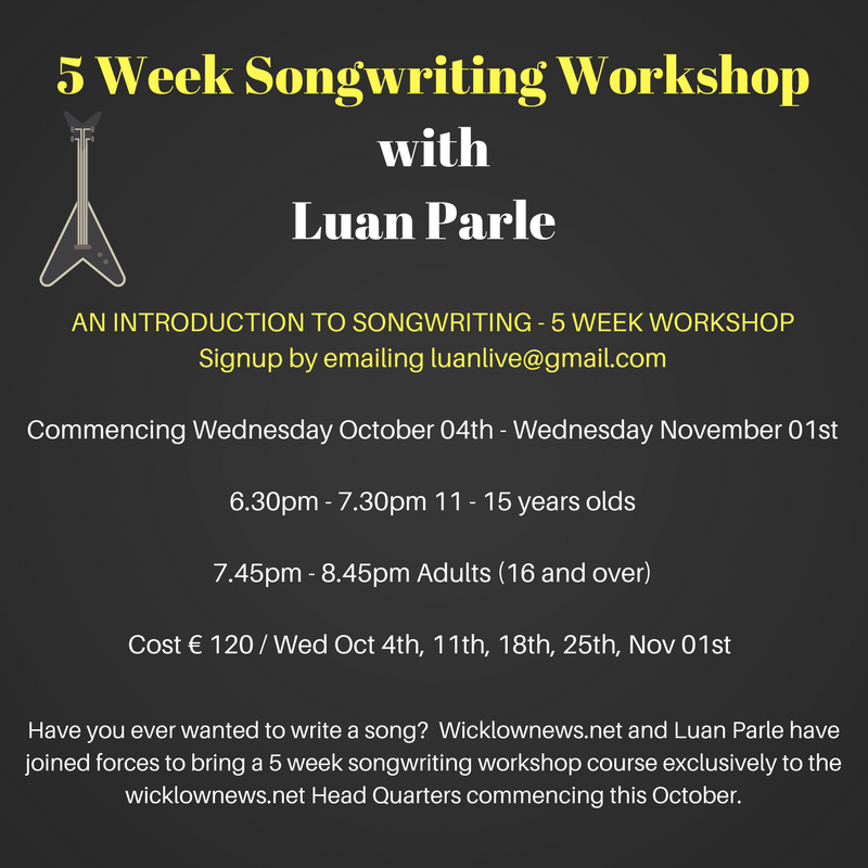 5 Week Songwriting Workshopwith Luan Parle